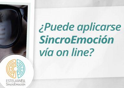¿Puede aplicarse SincroEmoción vía on line?